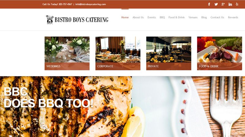 bistro boys catering website