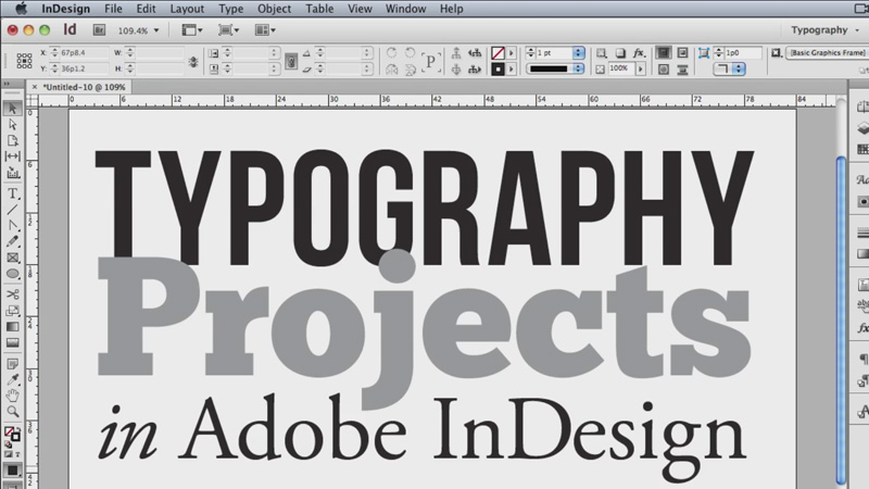 indesign typography course