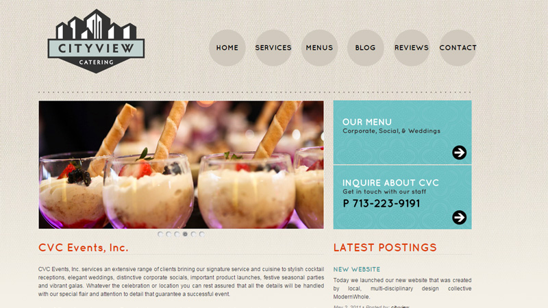 city view catering website