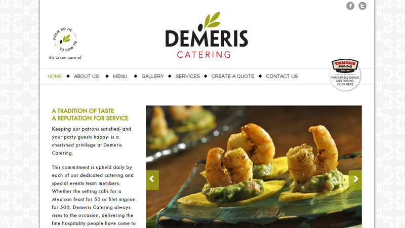 demeris catering layout