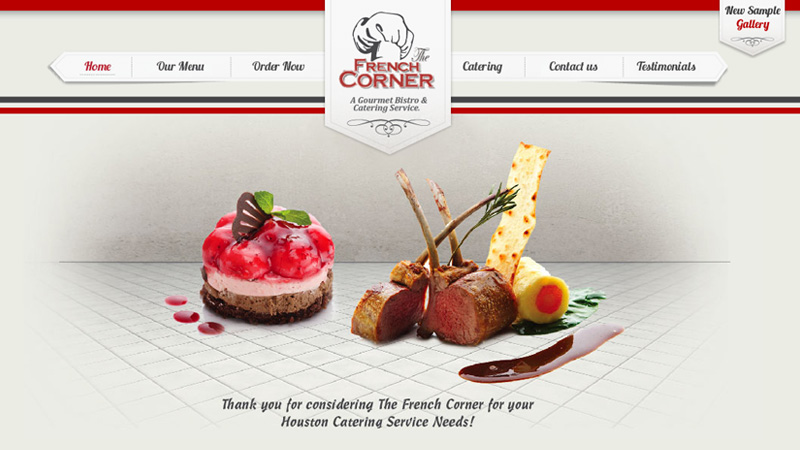 houston catering frech corner website