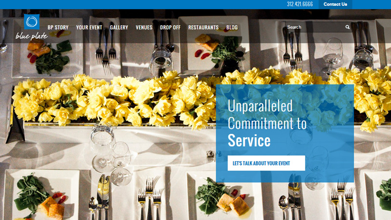 blue plate catering website