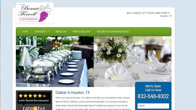 bennie ferrell catering homepage