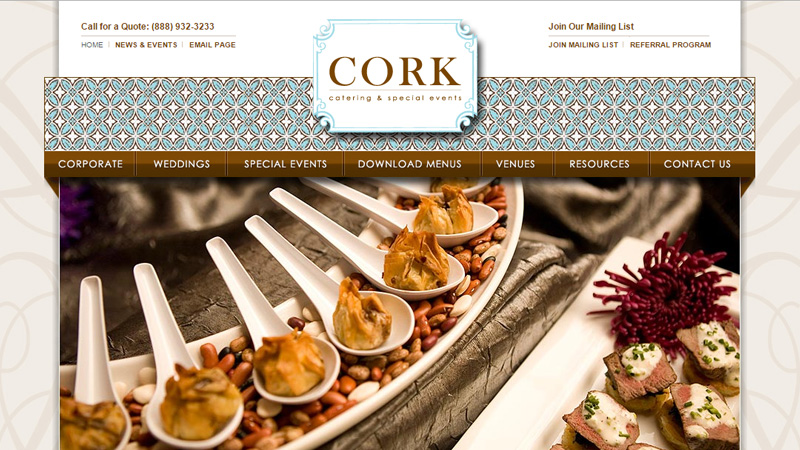 chicago cork design website layout