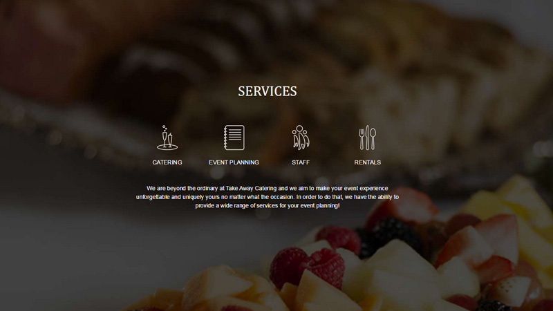 take away catering website