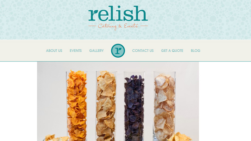 relish catering company textures patterns