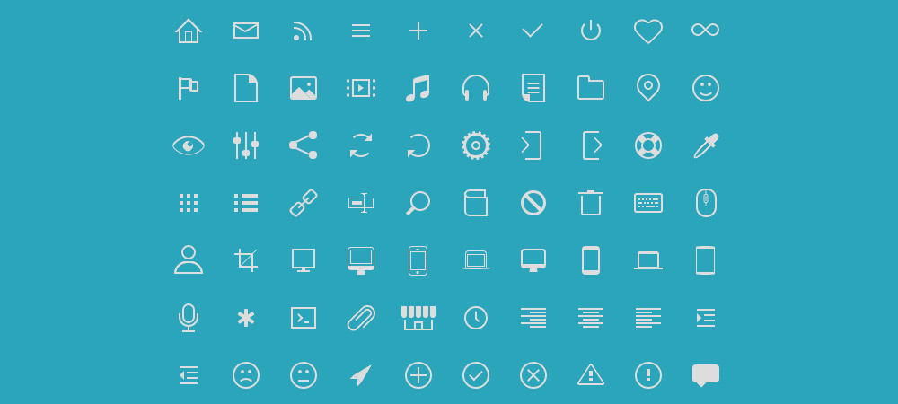 Icono offers Pure Open Source CSS Icons