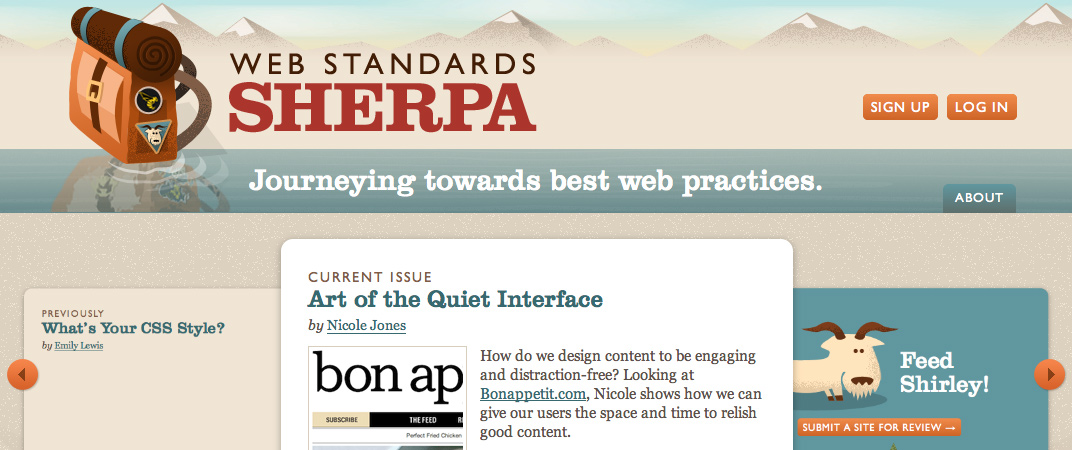 Web Standards Sherpa website