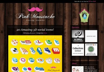 Pink Moustache