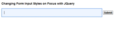 hanging Form Input Styles on Focus with jQuery