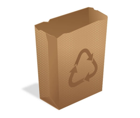 How to Create a Recycling Paper Bag Icon