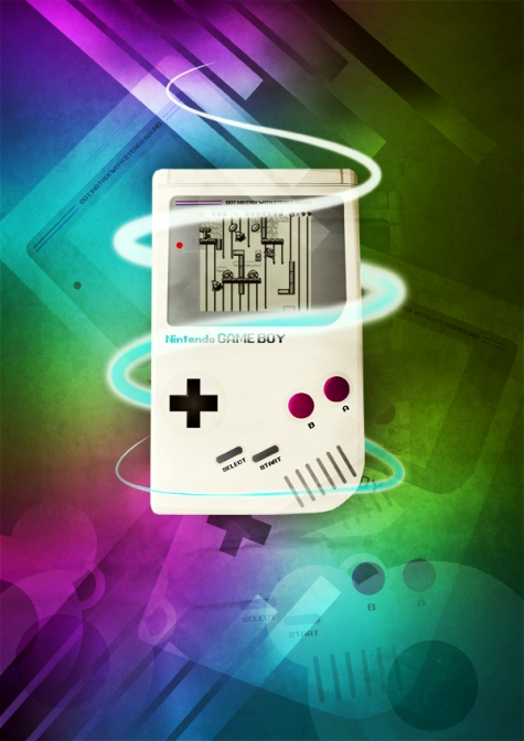 Design a Stylish Retro Game Boy Poster in Photoshop