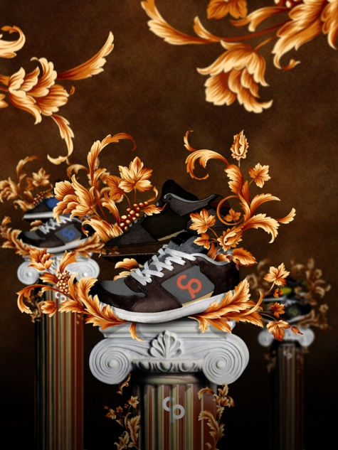 Create a Shoe Advertisement Poster Using Floral Elements