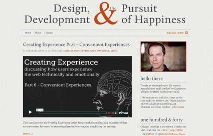 Design, Development & the Pursuit of Happiness