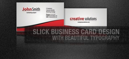 Create  a Slick Business Card Design with Stunning Typography