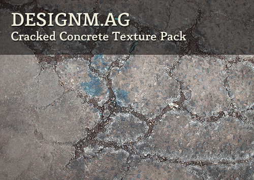 Cracked Concrete Texture Pack