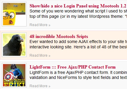 Morph Effect on mouseenter/mouseleave with MooTools 1.2