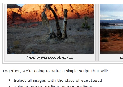 How to Auto Caption Images Using MooTools