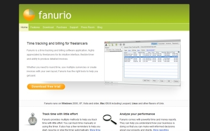 Fanurio Time Tracking and Invoicing