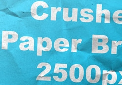 Crushed Paper Brush