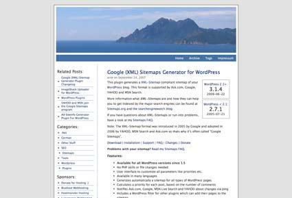 Google (XML) Sitemaps