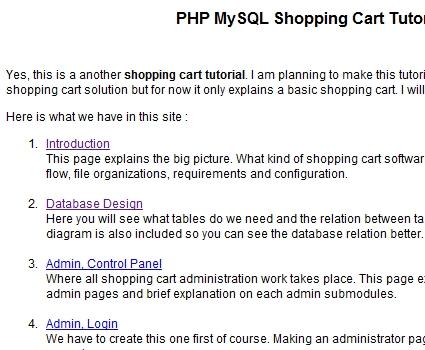 PHP MySQL Shopping Cart Tutorial
