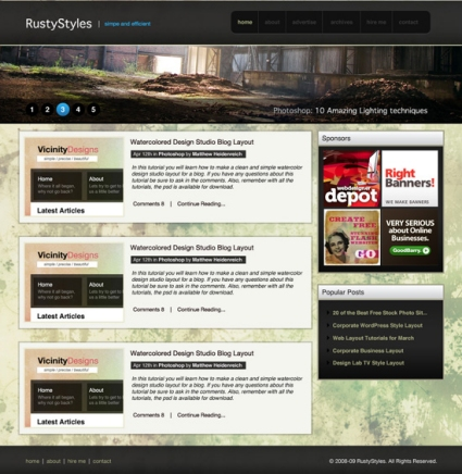 How to Create a Sleek and Textured Web Layout in Photoshop
