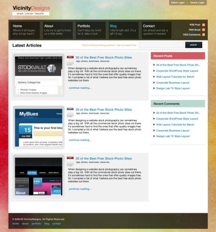 Watercolored Design Studio Blog Layout