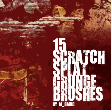 Scratch Splat Grunge Brushes