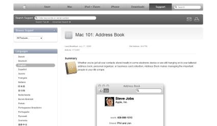 Mac Address Book