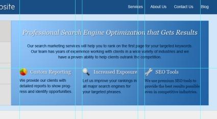 Design Blue Corporate Website in Photoshop