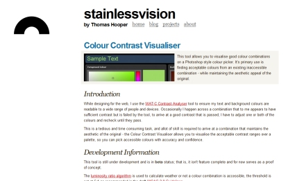 Colour Contrast Visualiser