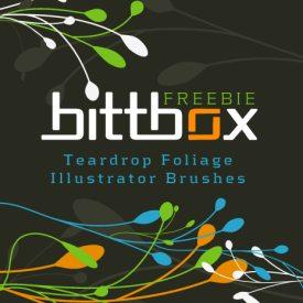 Teardrop Foliage Illustrator Brushes