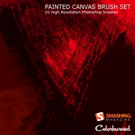 Painted Canvas Brushes