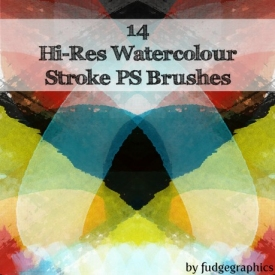Watercolour Brush Strokes