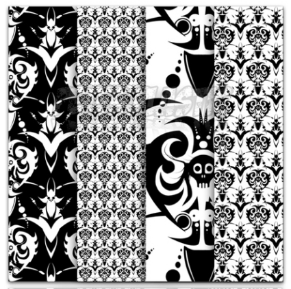 Grim Lady Baroque Patterns