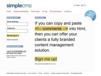 Simple CMS