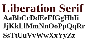 Liberation Serif