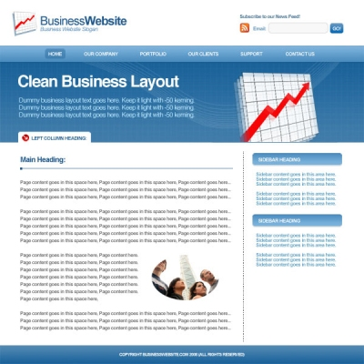 Design a Clean Business Layout