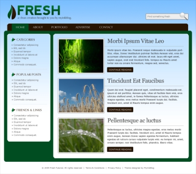 Design a Fresh Blog Theme on the 960 Grid