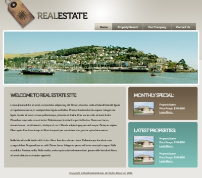 Sleek Real Estate Website
