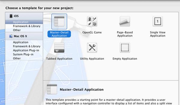 choosing the original project template