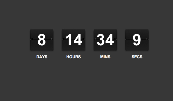 jQuery Rolodex count down timer ticker - demo screenshot