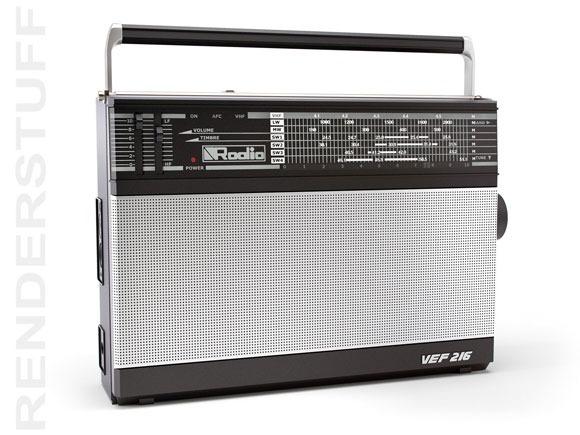 Retro-radio-3d-model