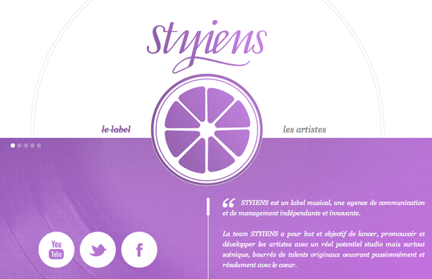 Styiens record labels music layout