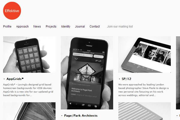 digital agency website layout effektive design