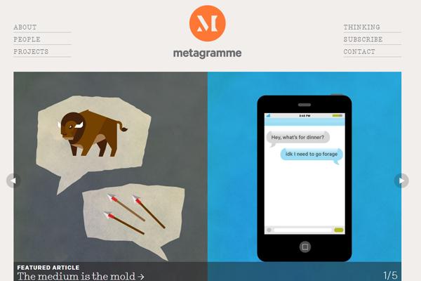 mobile app photos website design Meta Gramme