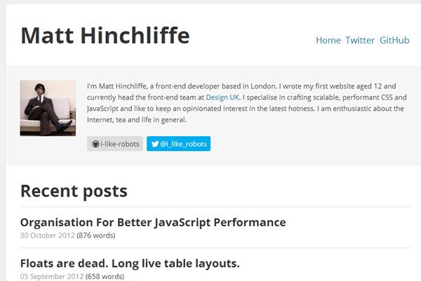 portfolio website design simple layout