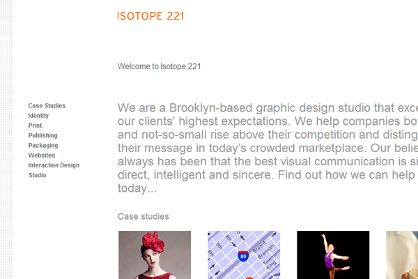 New York City Brooklyn design studio website