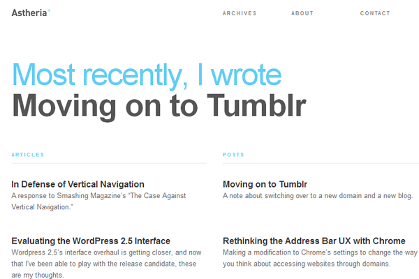 design agency clean minimal website homepage